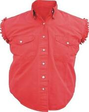 A2926  Ladies Sleeveless Shirt 100% Cotton twill Red