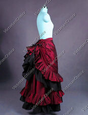 Victorian Bustle Walking Skirt Reenactment Theatre Punk Halloween Costume K034