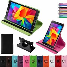 """PU Leather 360 Rotary Stand Case Cover for Samsung Galaxy Tab 4 7.0 7"""" inch Nook"""