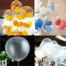 100x 10inch 25cm Clear Transparent Balloons Party Wedding Birthday Decor Decal