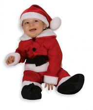 Christmas Fleece Santa Claus Romper Infant or Toddler Costume - 2 sizes fnt