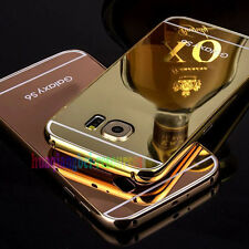 New Luxury Aluminum Metal Bumper Mirror Back Case Cover For Samsung Galaxy S6