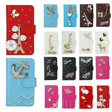 Shine Rose Tower Wallet Leather Flip Case Cover for Various Samsung Cell Phone
