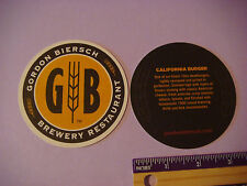 Beer Bar COASTER ~ GORDON BIERSCH Brewery & Restaurant <> 10oz California Burger