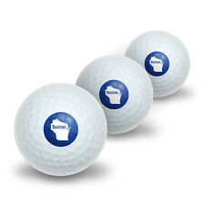 Wisconsin WI Home State Novelty Golf Balls 3 Pack