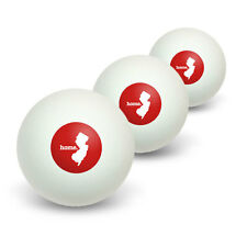 New Jersey NJ Home State Table Tennis Ping Pong Ball 3 Pack