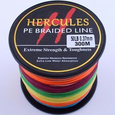 Hercules Spectra 300M 500M 1000M 4S Color 10-100LB Braid Fishing Line PE Dyneema
