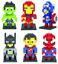Cute Movie Avengers Super Heroes Figures Mini Building Blocks Kids Boy Girl Toy