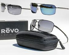 NEW REVO CAYO POLARIZED SUNGLASSES Black/Graphite, Chrome/Water Mirror, Gunmetal