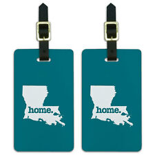 Louisiana LA Home State Luggage Suitcase ID Tags Set of 2