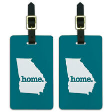 Georgia GA Home State Luggage Suitcase ID Tags Set of 2