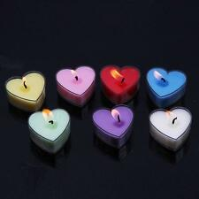 10pcs Heart Shaped Candles Wedding Valentine's Day Party Candle Home Decor 6L