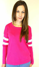 Womens Pink Jumper Sweater New Look Cotton Jumper Size 10 12 14 16 18 20 22 24