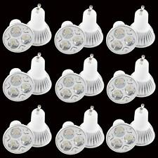 10X GU10 Non-dimmable 9W 3X3W CREE LED Light Ceiling indoor Bulb White Home Lamp