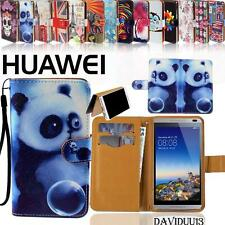 Folio Flip Wallet Card Stand Leather Magnetic Case Cover Pouch For Huawei Phones