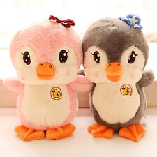 Newest super cute couple duck penguin plush toy cap bowknot birthday gift 1pc