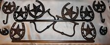 Cast Iron, Country Chic,Horse Shoe,Towel Rack, Bathroom Decor, Country & Western