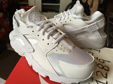 Nike Air Huarache Women WMNS Run Triple White Out All 634835-106 Black Platinum