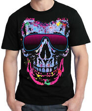 New Shady Character Skull T Shirt neon party rave glasses music hip hop