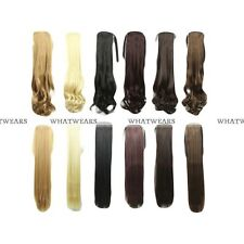 Long Lady Wowen Straight Curly Wavy Clip Ponytail Pony Tail Hair Extension MFR