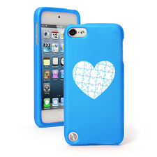 For Apple iPod Touch 4th 5th 6th Rubber Hard Case Cover Heart Puzzle Autism