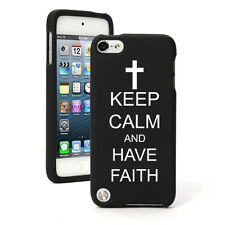 For Apple iPod Touch 4th 5th 6th Rubber Hard Case Keep Calm Have Faith Cross