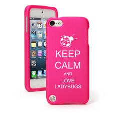 For Apple iPod Touch 4th 5th 6th Rubber Hard Case Cover Keep Calm Love Ladybugs