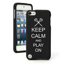 For Apple iPod Touch 4th 5th 6th Rubber Hard Case Cover Keep Calm Play Lacrosse