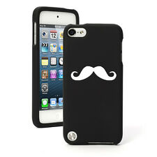 For Apple iPod Touch 4th 5th 6th Rubber Hard Case Cover Mustache