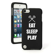 For Apple iPod Touch 4th 5th 6th Rubber Hard Case Cover Eat Sleep Lacrosse