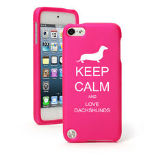 For Apple iPod Touch 4th 5th 6th Rubber Hard Case Keep Calm Love Dachshunds