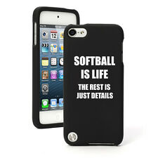 For Apple iPod Touch 4th 5th 6th Rubber Hard Case Cover Softball Is Life