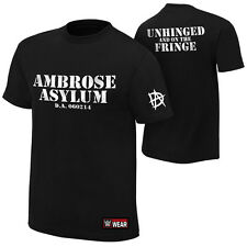 """WWE Dean Ambrose """"Unhinged and on the Fringe"""" Authentic T-Shirt NEU S M L XL 5XL"""