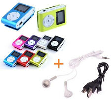 Up to 8GB Support Micro SD TF Mini Clip Metal LCD Screen MP3 Music Player + Free