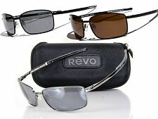 NEW REVO TRANSPORT POLARIZED SUNGLASSES Black/Graphite - Brown/Terra MSRP $189