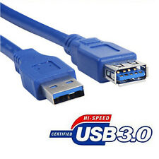 Premium Blue USB 3.0 A Male to A Female Extension Cable Cord Super Speed Lot