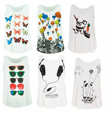 New Ladies Printed One Size Loose Fit, Great Price Tank Tops, Vests
