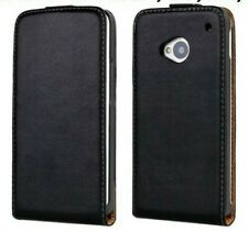 Black Slim Design Genuine Leather Flip Case Cover Skin for HTC One X XL M7 M8 M9