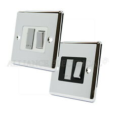 Polished Mirror Chrome Classical Switched Fused Spur 13Amp Fused Connection Unit