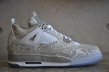 "Nike Air Jordan 4 Retro ""Laser"" GS - White/Chrome-Metallic Silver"