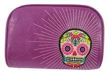 Lavishy Day of the Dead Flower Sugar Skull  Perfect Cosmetic Makeup Bag Pouch