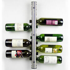 New Stainless Steel Wine Rack Bar Wall Mounted Kitchen Home Holder 12 8 Bottles
