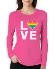 Love - Rainbow Heart Gay & Lesbian Equal Rights Pride Women Long Sleeve T-Shirt