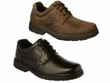 Hush Puppies OUTLAW Mens Comfy Lace Up Dual Standard Fulller Fit Oxford Shoes