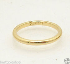 Michael Anthony Technibond Plain Wedding Band Ring 14K Yellow Gold Clad Silver