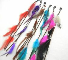 Wholesale Cute Bohemian Women Girls Real Feather Clips in on Hair Extensions Lot