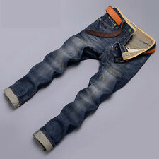 Designer JEAN ~ Mens Jeans Trousers Slim Fit Classic Straight Pants Casual 28-38