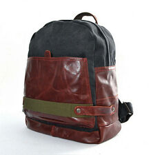 New Vintage Men/Women Canvas Leather Backpack Schoolbag Bag Rucksack Travel Bag
