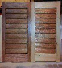 PLANTATION SHUTTERS -Solid Wood- UNFINISHED,UNASSEMBLED -Paint or Stain Grade