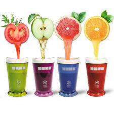Zoku Ice Cream Slush & Shake Maker Multicolorful Slushy Milkshake Smoothie Cup